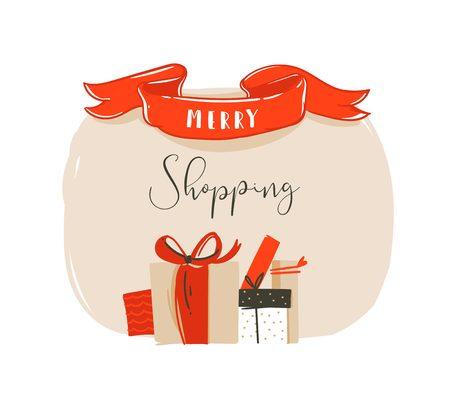 メリー クリスマス カード コンセプト デザイン。  イラスト・ベクター素材