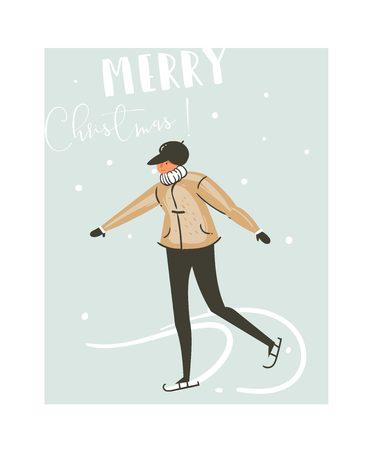 Merry Christmas card concept design.