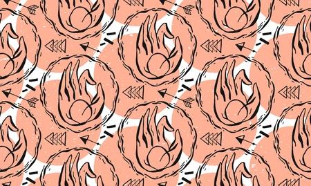 Element yoga Apan Vayu mudra hands with mehendi patterns. Vector illustration for a yoga studio, tattoo, spa, postcards, souvenirs.