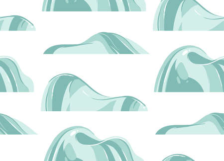 Hand drawn vector abstract cartoon summer time graphic illustrations artistic seamless pattern with beach stones isolated on white background. Illustration