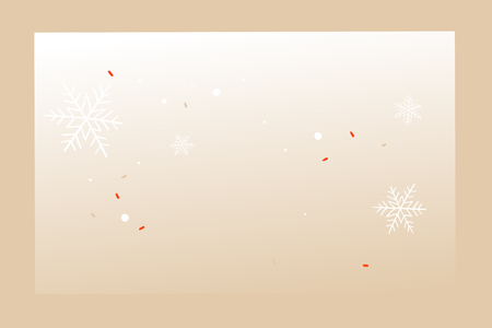 Hand drawn vector abstract fun Merry Christmas time cartoon empty greeting card with copy space place isolated on craft background