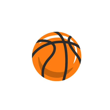 Hand drawn vector abstract stock graphic icon illustration with simple basketball ball isolated on white background Çizim