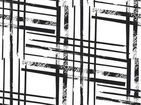 Geometric striped ornament. Vector black and white seamless pattern. Modern stylish texture. Christmas decoration ornament.Scandinavian style