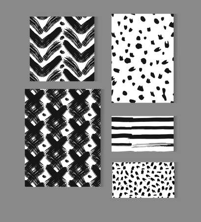 Set of Business Card Templates. Line Geometric Hipster Symbols for Logotype Design. Abstract Modern Vector Signs Collection for Banner, Poster, Placard or Card Design.  イラスト・ベクター素材