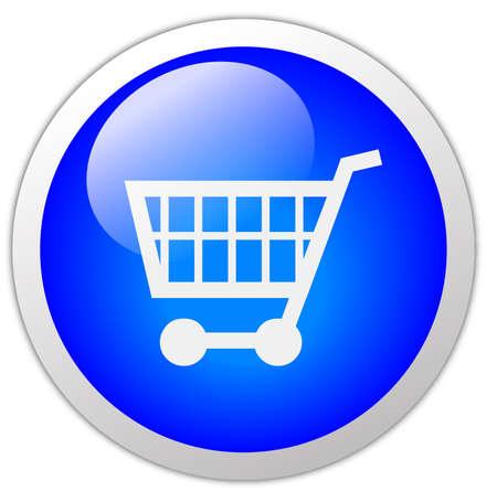 icon shopping cart: Warenkorb Icon Button Lizenzfreie Bilder