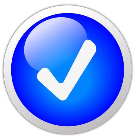 Tick Mark Icon Button