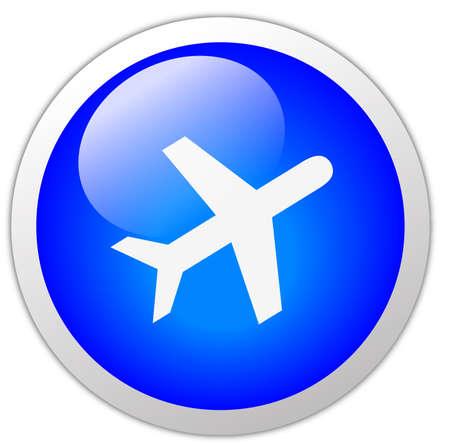 Travel Icon Button Stock Photo