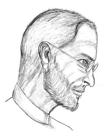 Steve Jobs Pencil Sketch Stock Photo - 11215602