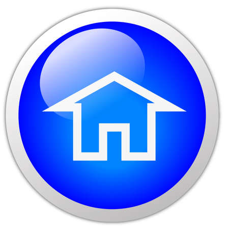 Home Icon Button Stock Photo - 12634756