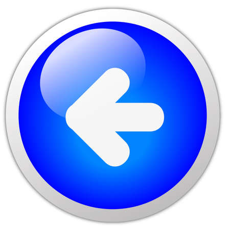 arrow left icon: Back Icon Button Stock Photo