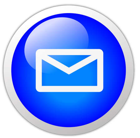 Mail Icon Button Stock Photo - 12634749