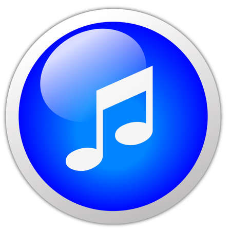 Music Icon Button Stock Photo - 12634747