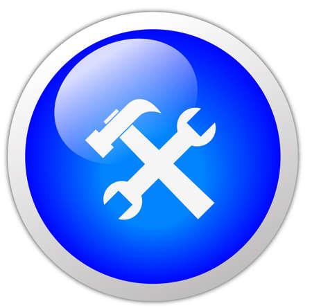 Tools Icon Button Stock Photo