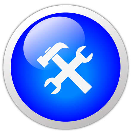 customize: Tools Icon Button Stock Photo