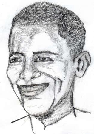 obama: Barack Obama Sketch Editorial