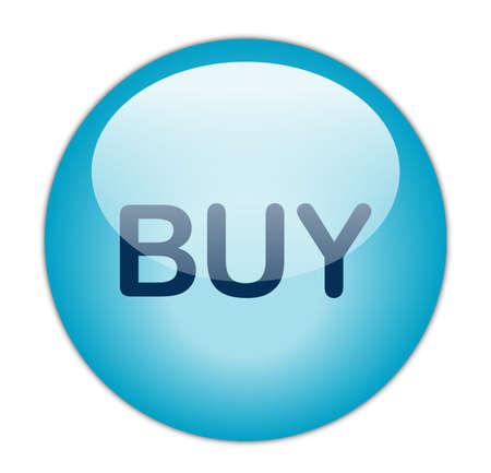 GlassyAqua Blue Buy Button Stock Photo