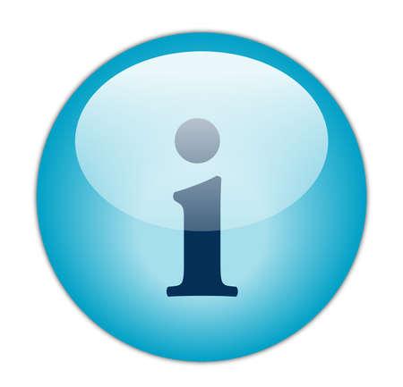 Glassy Blue Information Icon Stock Photo - 13614178