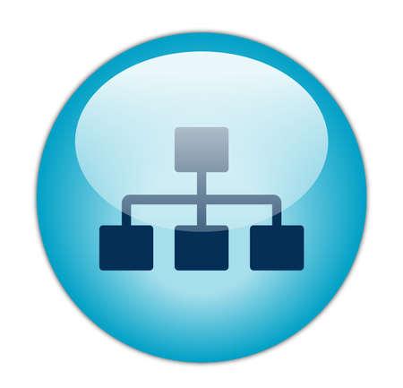 Glassy Blue Network Icon
