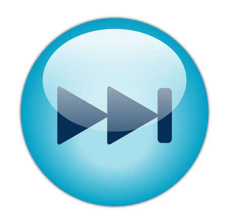 aqua icon: Glassy Aqua Blue Next Icon Stock Photo