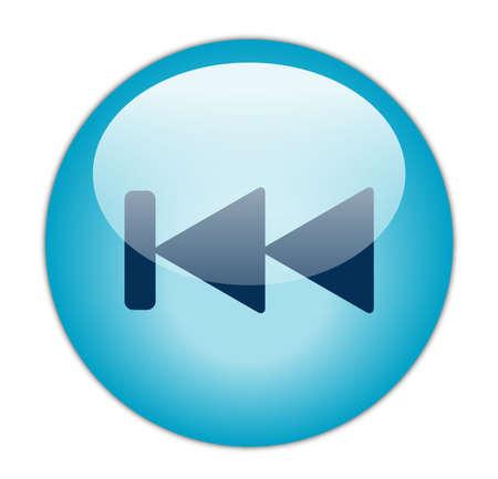 Glassy Aqua Blue Previous Icon
