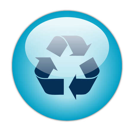 glassy: Glassy Aqua Blue Recycle Dark Fill Icon Button