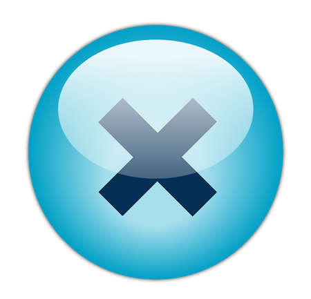 incorrect: Glassy Aqua Blue Cross Icon Button