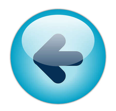 back button: Glassy Aqua Blue Back Icon Button