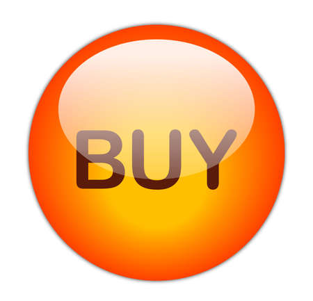 Glassy Red Buy Button Stock Photo - 14860830