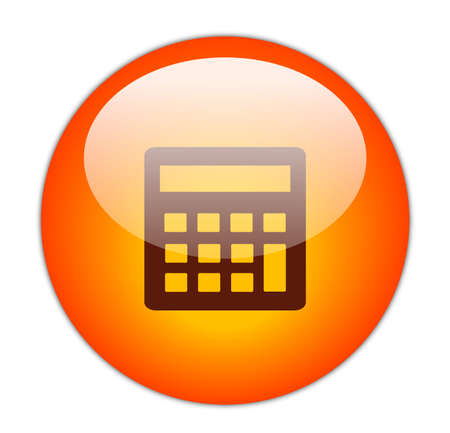 glassy: Glassy Red Calculator Icon Button Stock Photo