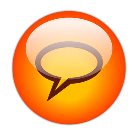 Glassy Red Elliptical Chat Icon Button