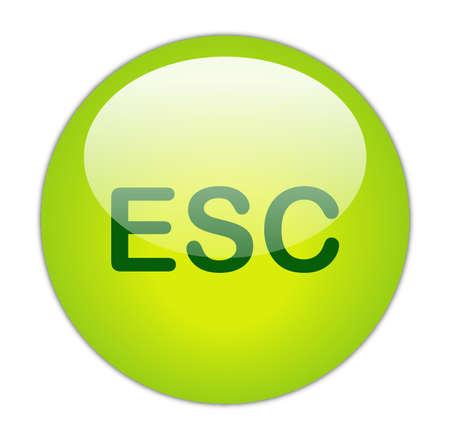 Glassy Green Escape Button Stock Photo - 14864160