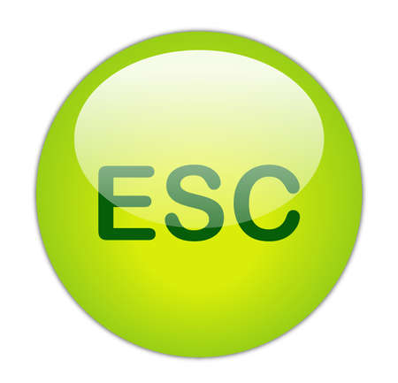 esc: Glassy Green Escape Button