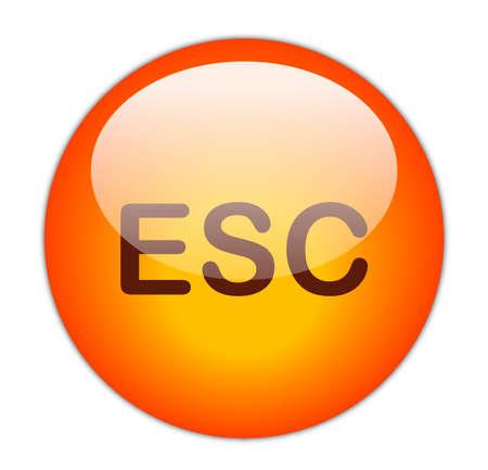 Glassy Red Escape Button Stock Photo - 14864166