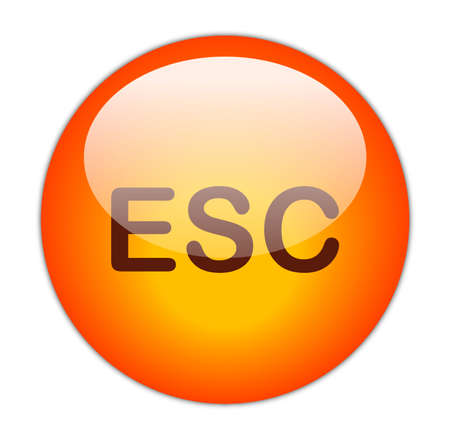esc: Glassy Red Escape Button