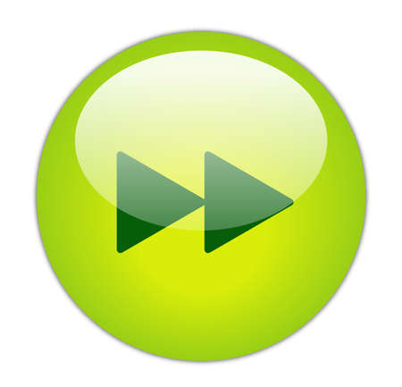 Glassy Green Forward Icon Button