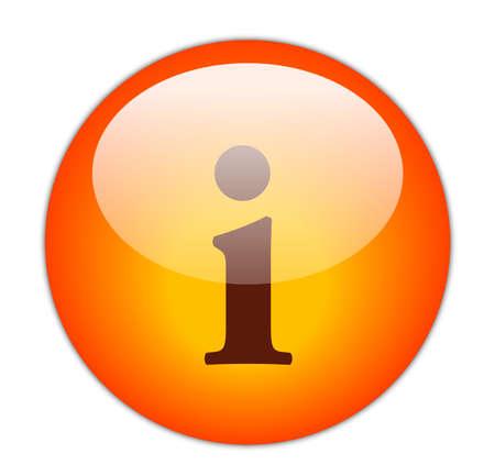 glassy: Glassy Red Information Icon Button