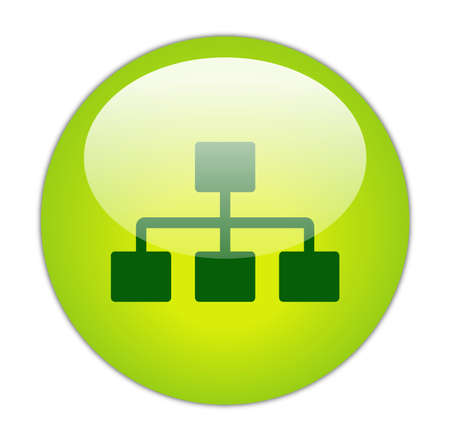 Glassy Green Network Icon Button photo
