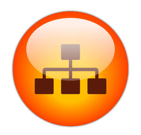 Glassy Red Network Icon Button