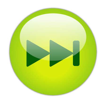 Glassy Green Next Icon Button photo