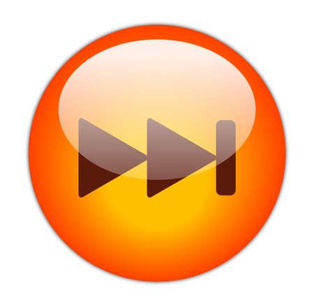 glassy: Glassy Red Next Icon Button