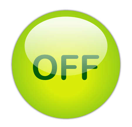 Glassy Green Off Button Stock Photo - 14864158