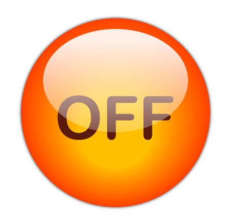 Glassy RedOff Button  Stock Photo - 14864162