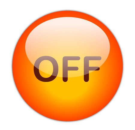 Glassy RedOff Button Stock Photo - 14864162