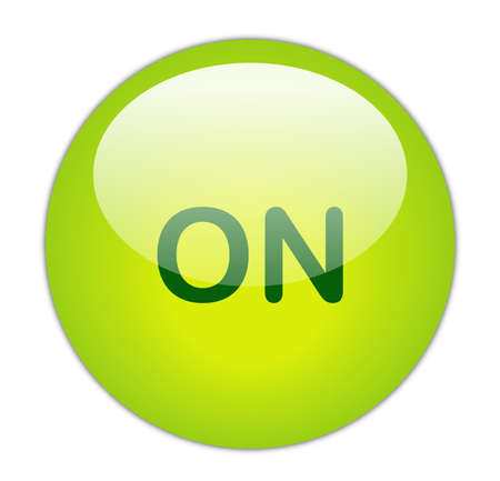 Glassy Green On Button