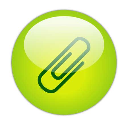 Glassy Green Attachment Icon Button