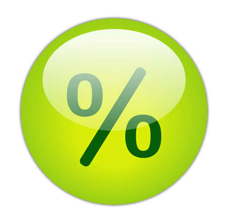 Glassy Green Percent Icon Button