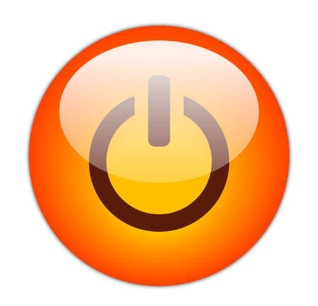 turn on: Glassy Red Power Icon Button