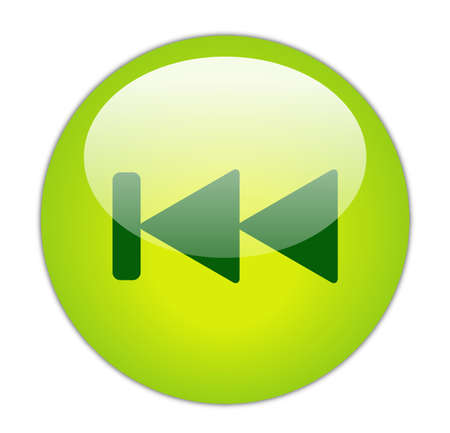 Glassy Green Previous Icon Button