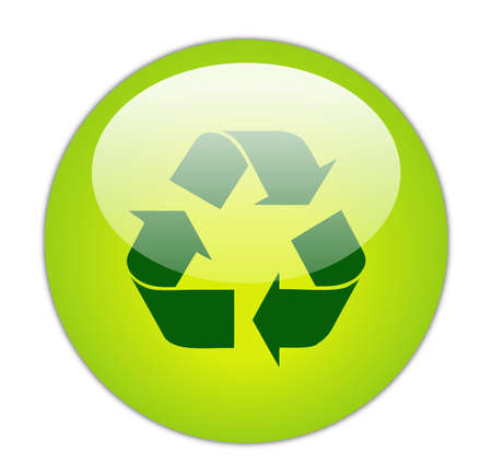 Glassy Green Recycle Dark Fill Icon Button