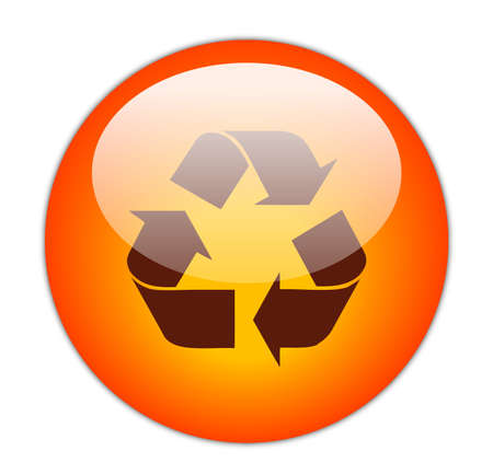 Glassy Red Recycle Dark Fill Icon Button